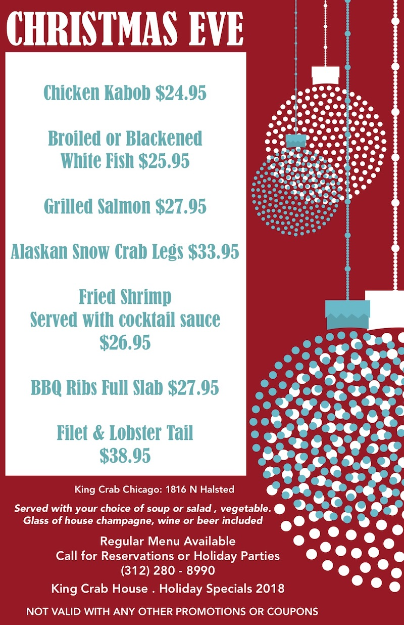 king crab house chicago christmas eve specials