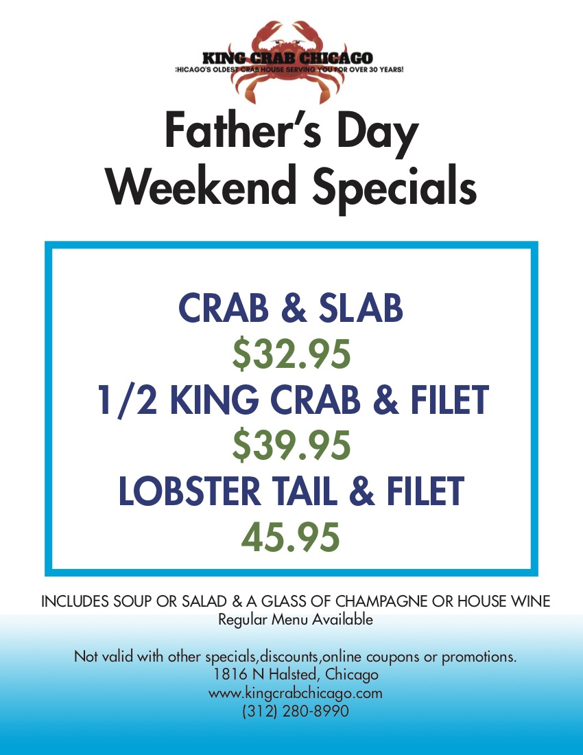 king crab house chicago fathers day