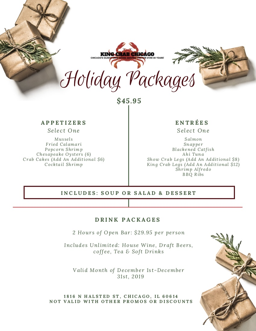 king crab house chicago holiday packages